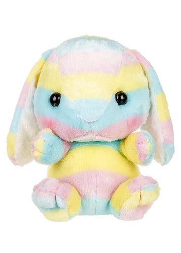 AMUSE® Rainbow Bunny plush