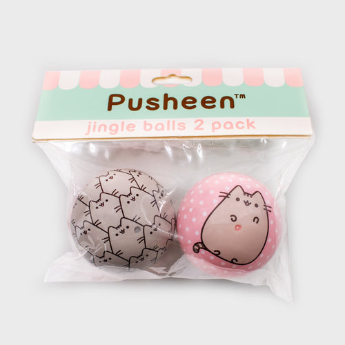 PUSHEEN jingle ball (pet toy), Pack of 2