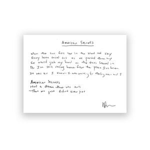 Handwritten Lyrics- 16 Lines