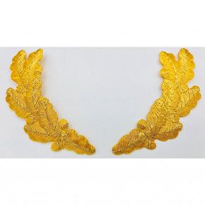 Trimplace Gold Metallic Scrambled Eggs Applique