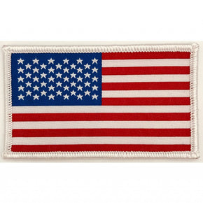 "Trimplace American Flag Woven 2""x3-1/4"" Heat Seal Applique"