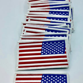 "Trimplace American Flag Woven 2"" X 3-1/4"" Heat Seal Applique - 100 PCS"