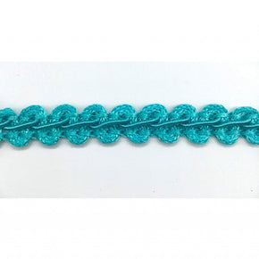 "Trimplace Aqua 3/8"" Gimp Trim 12 Yards"