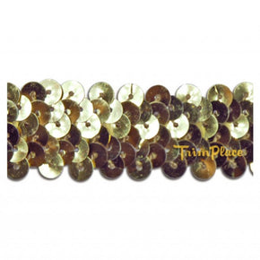 GOLD 7/8 INCH (2 ROW) STRETCH SEQUIN