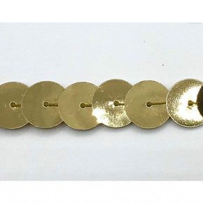 "Trimplace 10mm 3/8""  Single Row Gold Jumbo Sequin"