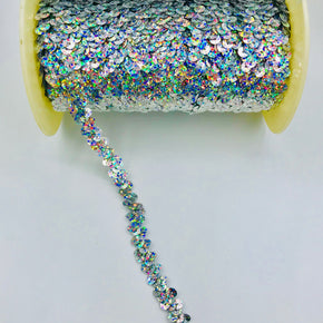 "Trimplace Silver Spotlight 3/8"" Single Row Stretch Sequin"