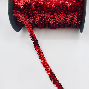 "Trimplace Red 3/8"" Single Row Stretch Sequin"