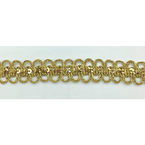 "Trimplace 3/4"" Gold Metallic Sequin Galloon"