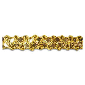 Trimplace 3/8 Inch Gold Sequin Lattice