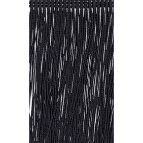 "Trimplace Black 26"" Chainette Fringe -Sold by the Yard"