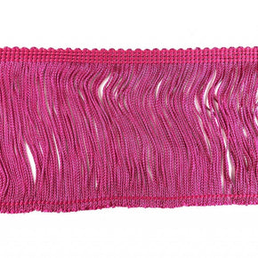 "Trimplace Fuchsia 4"" Rayon Chainette Fringe"