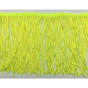 "Trimplace Fluorescent Lime 4"" Chainette Fringe"