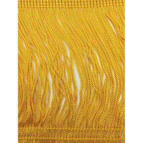 "Trimplace Flag Gold 6"" Rayon Chainette Fringe"