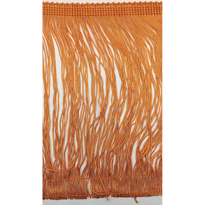 "Trimplace Orange 9"" Rayon Chainette Fringe"