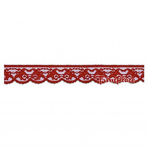 1-1/4 INCH RED LACE