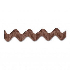 "BROWN 3/8"" MIDDY RIC RAC"