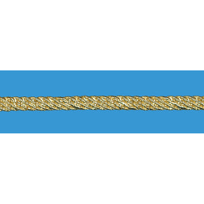 GOLD METALLIC 1/4 INCH FILE BRAID