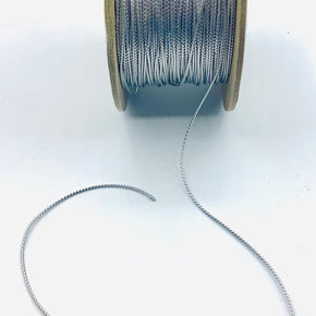 "Silver Metallic 1/16"" Braided Cord - 144 Yards"