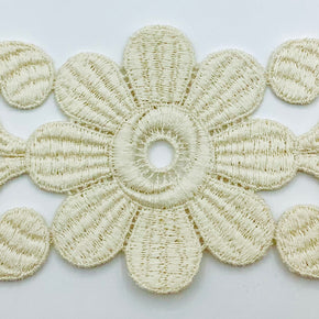 Natural Vintage Venice Lace Applique - 4 Pieces