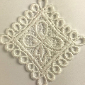 White Trimplace Vintage Venice Lace Applique