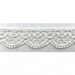 Trimplace 7/8 inch White Venice Scallop Lace