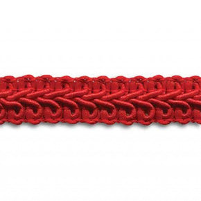 RED 1/2 INCH POLY CHINESE BRAID