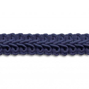 NAVY 1/2 INCH POLY CHINESE BRAID