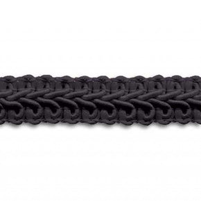 BLACK 1/2 INCH POLY CHINESE BRAID