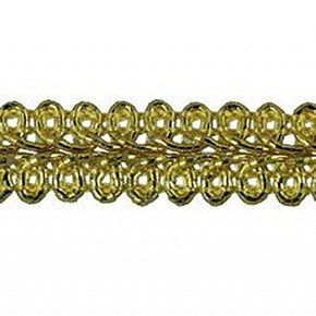 GOLD 1/2 INCH METALLIC CHINESE BRAID