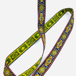"Oriental Multi-Colors 5/8"" Woven Edge Jacquard Ribbon"