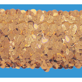 GOLD 2 INCH (5 ROW) STRETCH SEQUIN-NEW!!!! LOW PRICE