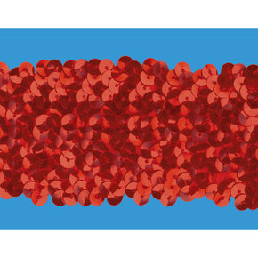 RED 2 INCH (5 ROW) STRETCH SEQUIN-NEW!!!!LOW PRICE