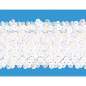 WHITE IRIS 2 INCH (5 ROW) STRETCH SEQUIN-NEW!!!! LOW PRICE
