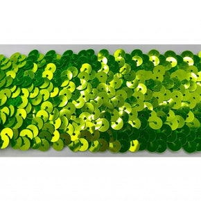"Fluorescent Lime 2"" Stretch Sequin"