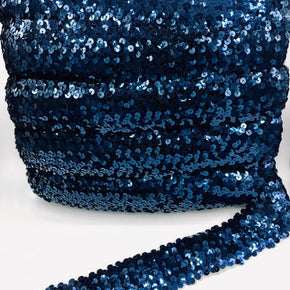 "Trimplace Navy 2"" (5 Row) Stretch Sequin"