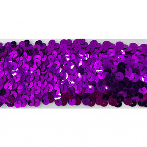 "Trimplace Purple 2"" Stretch Sequin"