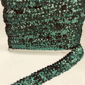 "Trimplace Forest Green 2"" (5 Row) Stretch Sequin"