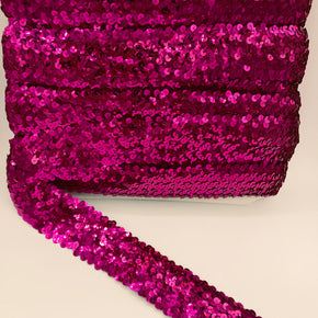 "Trimplace Fuchsia 2"" (5 Row) Stretch Sequin"