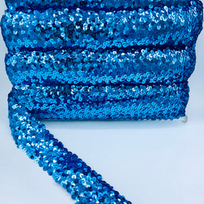 "Trimplace Dior Blue 2"" (5 Row) Stretch Sequin"