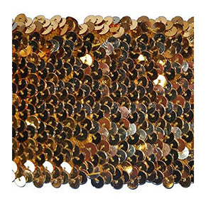 GOLD 3 INCH STRETCH SEQUIN TRIM
