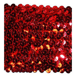 RED 3 INCH STRETCH SEQUIN TRIM
