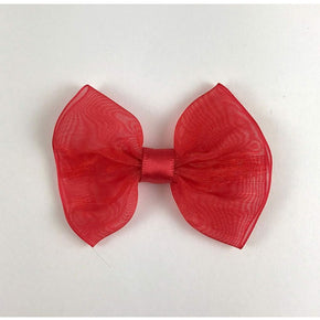 "Trimplace Red Chiffon Bow with Satin Ribbon Center - 2 3/4"" Wide x 2"" High"