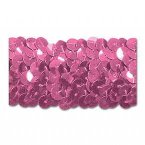 CANDY PINK 1-1/4 INCH (3 ROW) STRETCH SEQUIN-NEW!!!! LOW PRICE