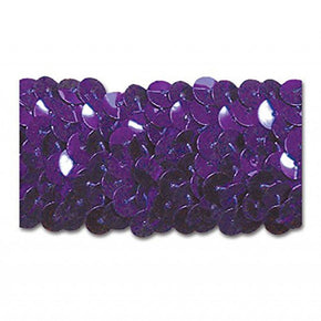 PURPLE 1-1/4 INCH STRETCH SEQUIN