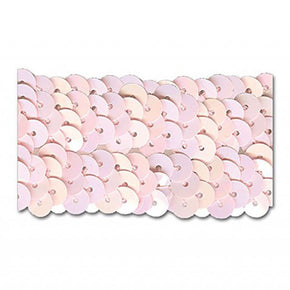 PINK IRIS 1-1/4 INCH (3 ROW) STRETCH SEQUIN-NEW!!!! LOW PRICE