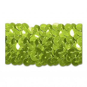 LIME 1-1/4 INCH (3 ROW) STRETCH SEQUIN-NEW!!!! LOW PRICE