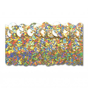 GOLD HOLOGRAM 1-1/4 INCH (3 ROW)  STRETCH SEQUIN-NEW!!!! LOW PRICE