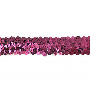 Trimplace Wine 1-1/4 Inch Stretch Sequin - 3 Row