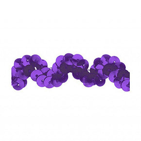 PURPLE 5/8 INCH SEQUIN RIC RAC
