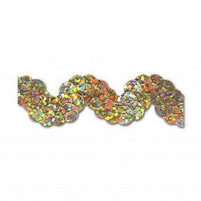 GOLD HOLOGRAM 5/8 INCH SEQUIN RIC RAC